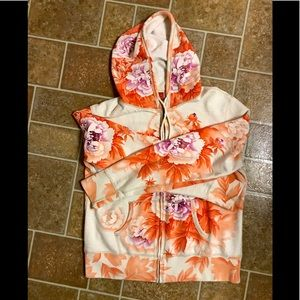 Lucky Brand Distressed Hoodie - size XL